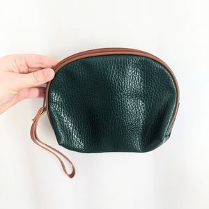 Vintage Green Faux Leather Pouch